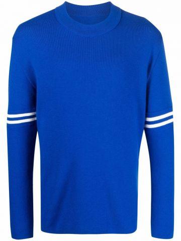 Blue crew-neck jumper
