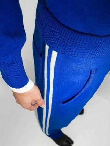Blue wool sports trousers