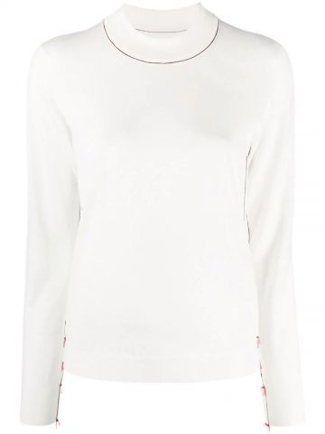 White sweater with contrast detail