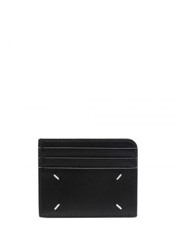 Black Four-stitches cardholder