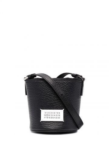 Black 5AC micro bucket bag