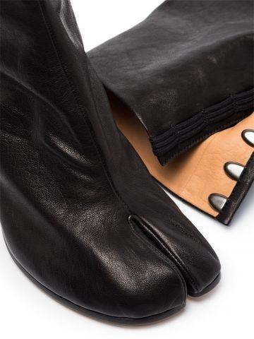 Black calfskin Tabi boots