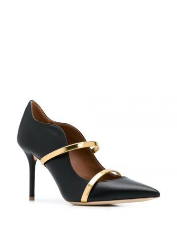 Black Maureen 85 pointed toe pumps