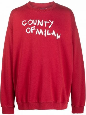 Red sweatshirt with logo