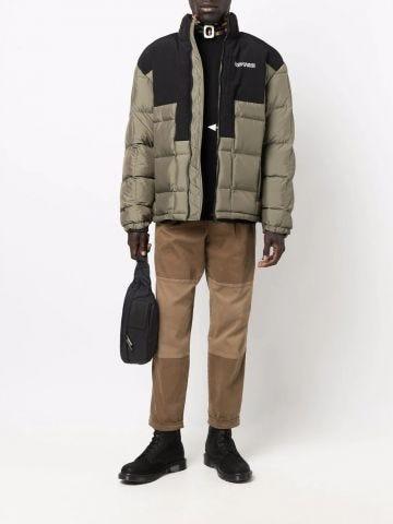 Green short down jacket