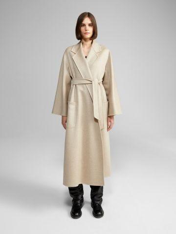 Beige Ludmilla cashmere coat