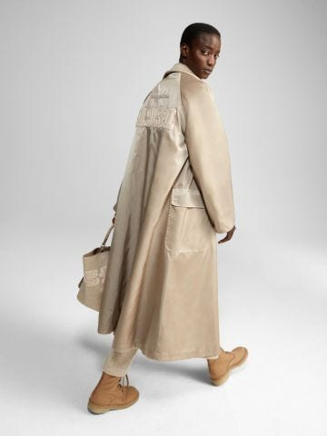 Cappotto reversibile in cachemire beige Ludmilla