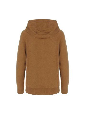 Caden beige hooded sweater
