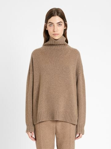 Brown wool and cashmere knit Trau sweater