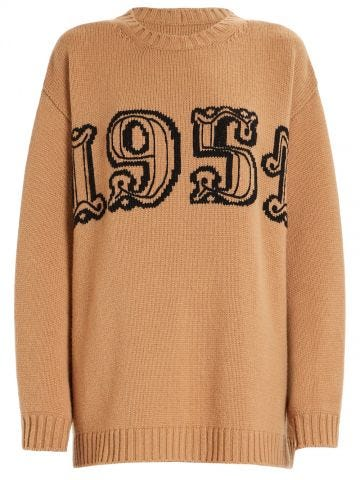 Brown Wool and cashmere knit Tirreno sweater