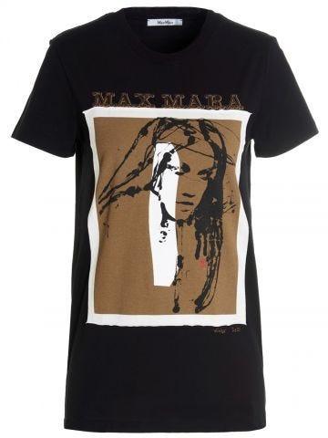Black Divina cotton T-shirt