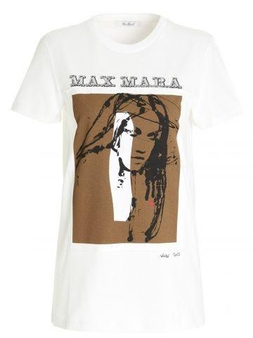 White Divina cotton T-shirt