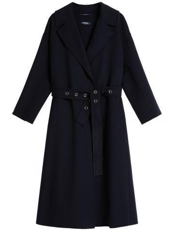 Midnight blue wool Emily coat
