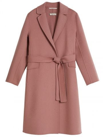 Antique rose wool Polly coat
