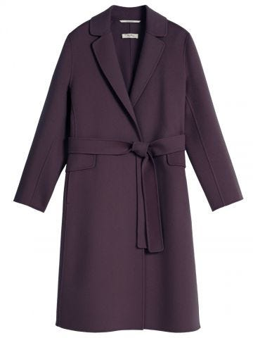 Purple wool Polly coat