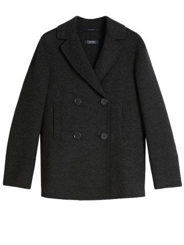 Grey wool and angora Dea jacket