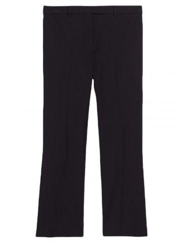 Black tech cotton Umanita trousers