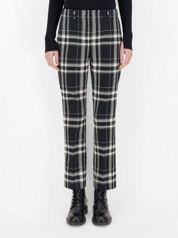 Black wool twill Gallico trousers