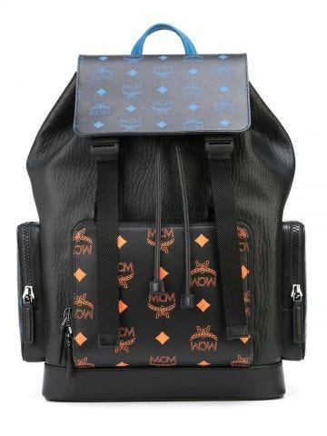 Black Brandenburg leather backpack