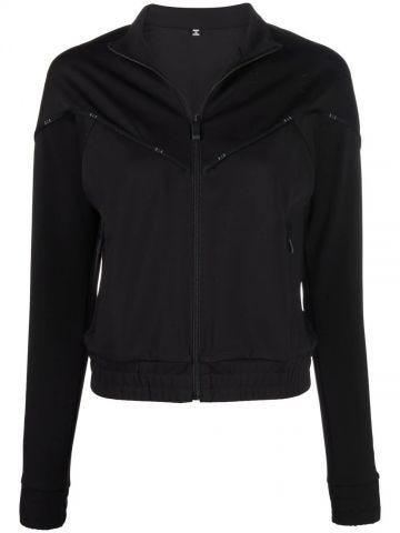 Sweatshirt with black zip and logo detail