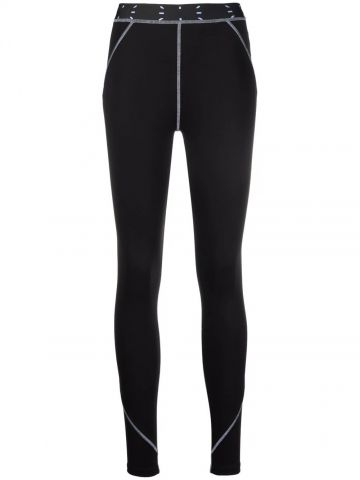Black leggings with contrasting stitching