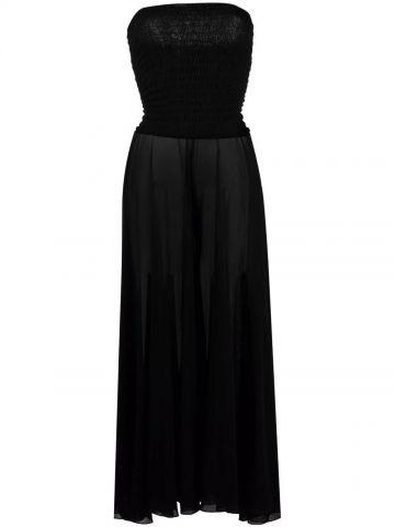 Black strapless maxi beach dress