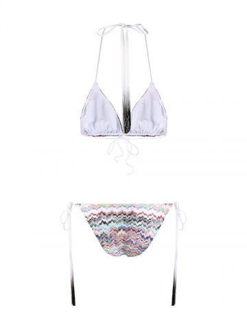Zigzag-pattern tasselled bikini
