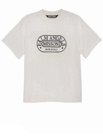 T-shirt Heritage bianca Palm Angels x Missoni