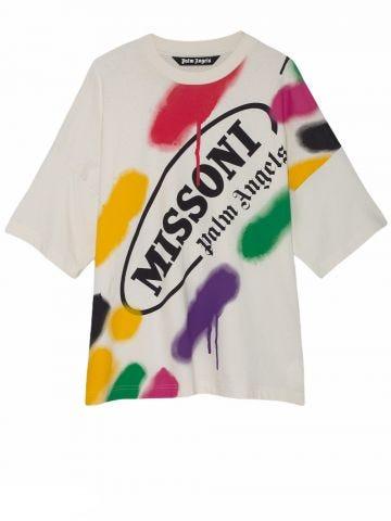 Palm Angels x Missoni white Sport T-shirt