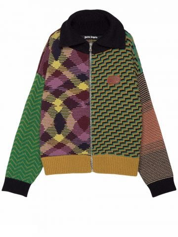 Palm Angels x Missoni multicolour patchwork cardigan