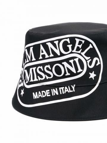 Palm Angels x Missoni black Heritage bucket hat