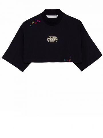 Palm Angels x Missoni black Heritage crop T-shirt