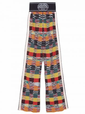 Pantaloni in maglia multicolor Palm Angels x Missoni