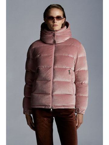 Pink Holostee down jacket