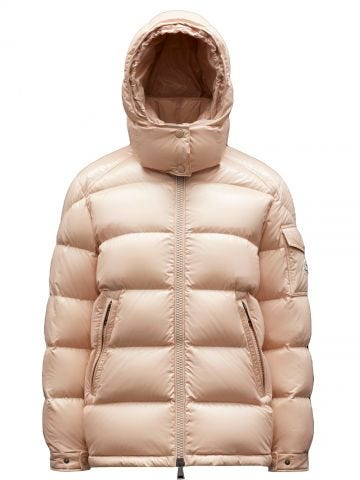 Short pink Maire down jacket