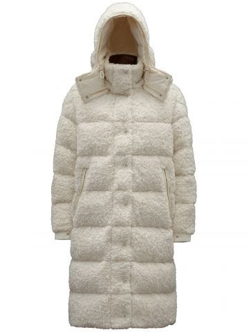 Long white Hainardia down jacket