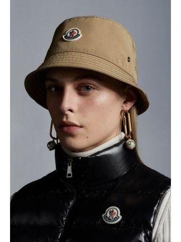 Beige logo bucket hat