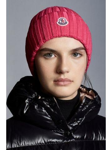 Pink pure wool beanie
