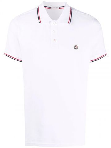 White Polo with tricolor detail