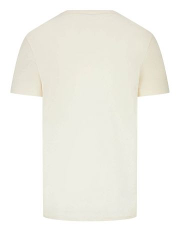 White lettering graphic T-shirt