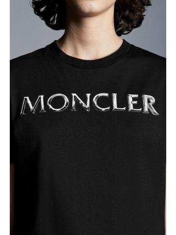 Black Shiny Logo T-Shirt