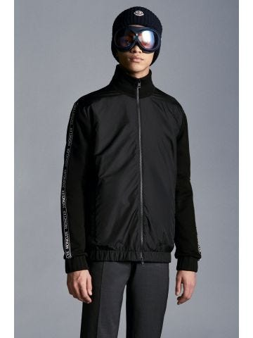 Black Stand Collar Sweatshirt