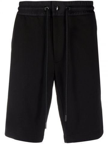 Black side stripe-detail shorts