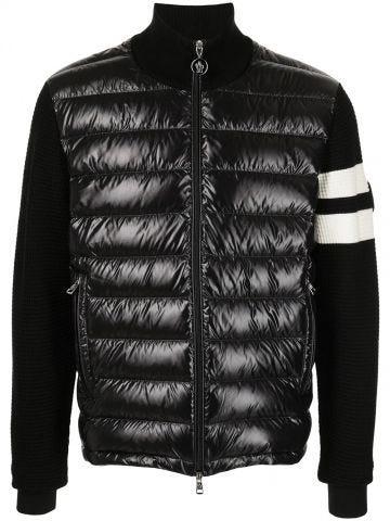 Black striped sleeve jacket