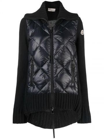 Black quilted cardigan