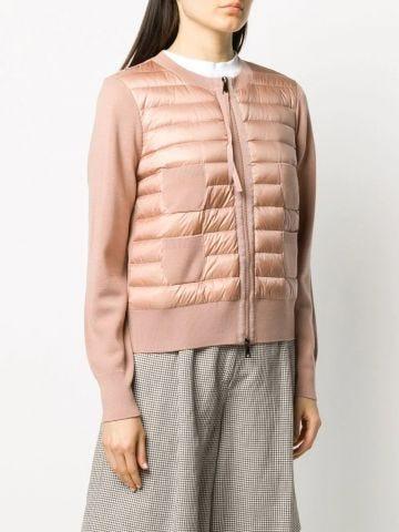 Pink padded cardigan