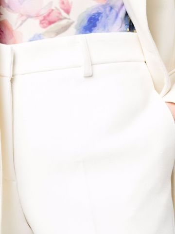 White tailored crop trousers