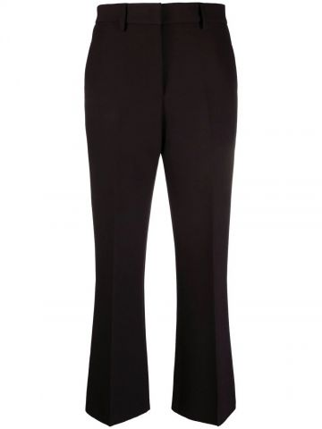Black tailored crop trousers