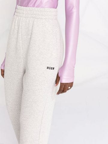 Grey sports trousers with print