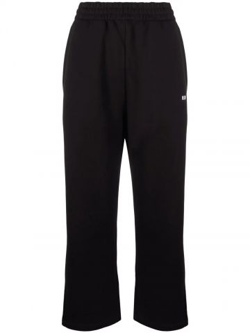 Black sports trousers with print